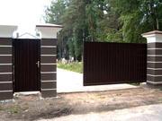 Ворота откатные (консольные),  ворота распашные,  заборы,  двери.